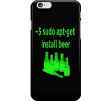 Linux sudo apt-get install beer iPhone Case/Skin