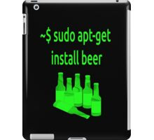 Linux sudo apt-get install beer iPad Case/Skin