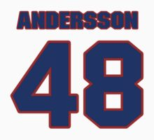 National Hockey player Jonas Andersson jersey 48 by imsport