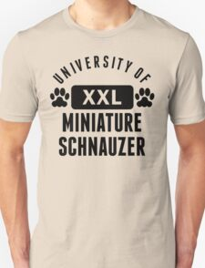 University Of Miniature Schnauzer T-Shirt