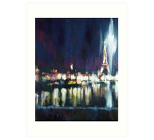 Paris at night part one Art Print