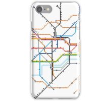 London Underground Pixel Map iPhone Case/Skin