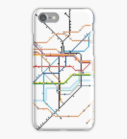 London Underground Pixel Map iPhone Case/Skin