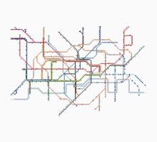 London Underground Pixel Map by Jake McCarthy Mansbridge