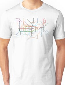 London Underground Pixel Map Unisex T-Shirt