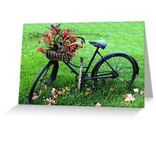 Bicycle Basket Greeting Card