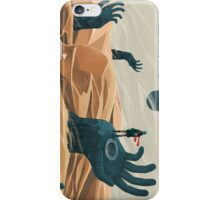 The wanderer and the desert portals iPhone Case/Skin