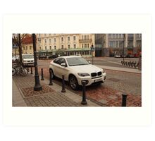 BMW X6 for joy Art Print