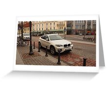 BMW X6 for joy Greeting Card