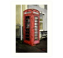 Painted phone booth Art Print