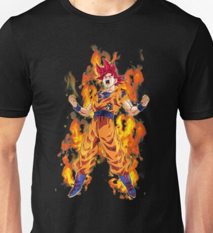 Goku ssj God Power Unisex T-Shirt