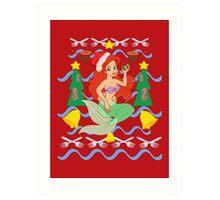 The Merry Mermaid Art Print