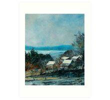 Houdremont village belgium Art Print