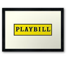 Playbill  Framed Print
