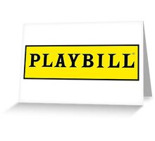 Playbill  Greeting Card