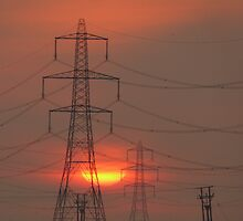 Pylons at Dawn by brummieboy