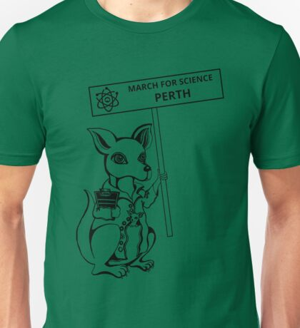 March for Science Perth – Kangaroo, black Unisex T-Shirt