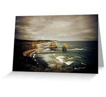 Twelve Apostles at Gibsons Beach, Great Ocean Road, Victoria Greeting Card