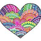 Patterned Heart by Octavio Velazquez