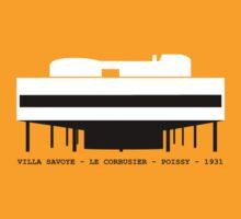Villa Savoye Le Corbusier Architecture Tshirt by pohcsneb