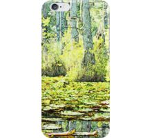 Lillypads in the Swamp - Watercolor Look iPhone Case/Skin