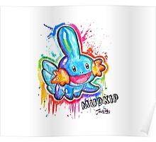 Cute Mudkip Spraypaint Tshirts + More! ' Pokemon ' Poster