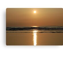Reflecting Sun 2 - Ballybunnion Beach Canvas Print