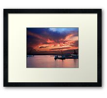 An 'Italian Sunset'  Framed Print
