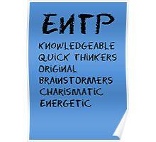 ENTP (Black letters) Poster