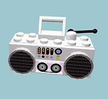 Brick Hop Ghetto Blaster by geekmorris