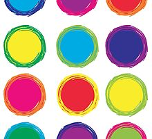Colorful Circles by ValeriesGallery