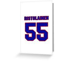 National Hockey player Rasmus Ristolainen jersey 55 Greeting Card