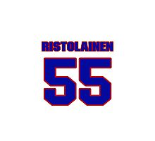 National Hockey player Rasmus Ristolainen jersey 55 Photographic Print