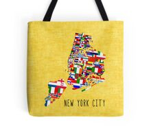 United Flags of New York City Tote Bag