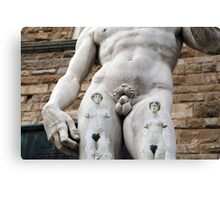 All About Italy. Piece 14 - Florence. David's Tattoos Canvas Print