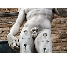 All About Italy. Piece 14 - Florence. David's Tattoos Photographic Print