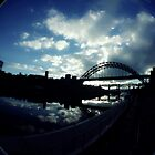 Experimental Fisheye View Of Tyne Bridge by Andrew Pounder