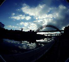 Experimental Fisheye View Of Tyne Bridge by Andrew Pounder