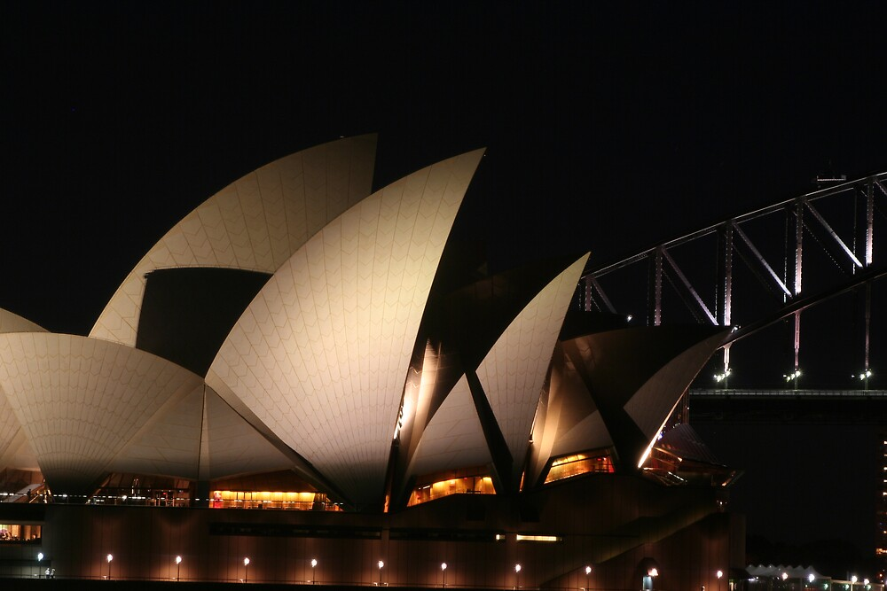 The Sydney Opera House Sails and Bridge by MaluMoraza
