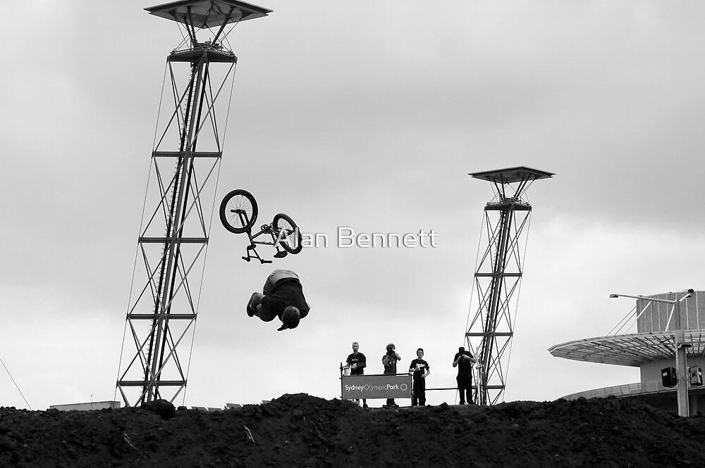 Bike versus gravity 2 by Alan Bennett