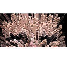 Exploding squares Photographic Print