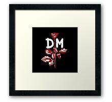 Depeche Mode : Violator DM Paint White Framed Print