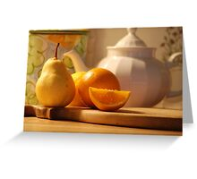 Tea and Oranges Greeting Card