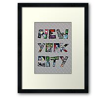 New York City Street Art Framed Print
