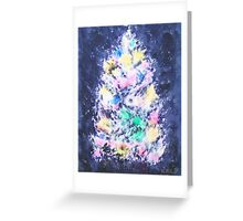 Glowing, Pastel-Colored Lights Christmas Tree Card Greeting Card