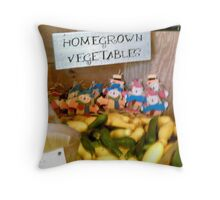 Home grown vegetables Throw Pillow