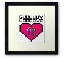 GUY LOVE Framed Print