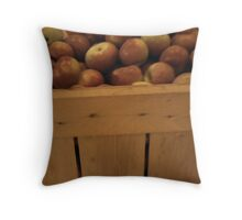 fresh picked apples Throw Pillow