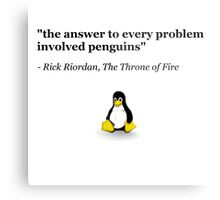 The Answer to Every Problem Involved Penguins Metal Print