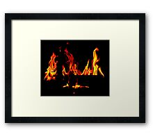 One From The Hearth  Framed Print